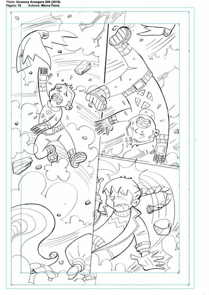 Mi Proyecto del curso: El cómic de superhéroes: narrativa y realización gráfica. Los pequeños Uncanny Avenger 3