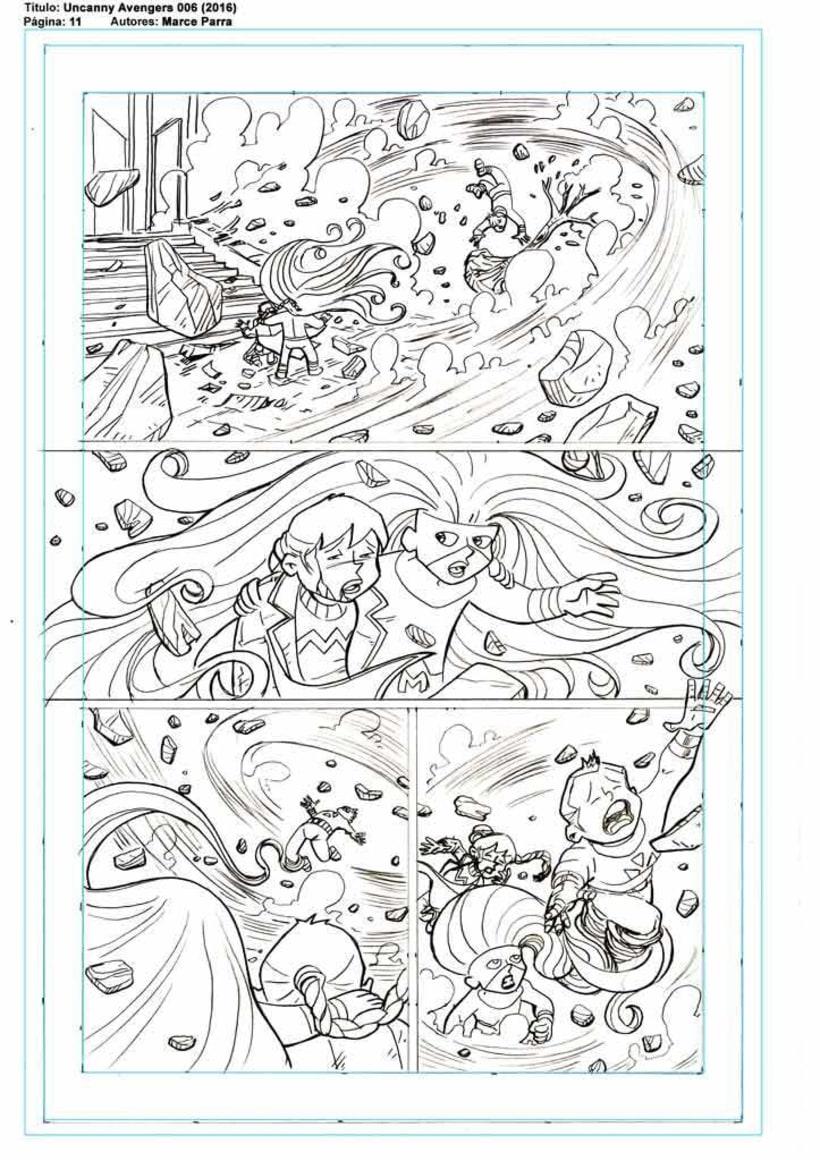 Mi Proyecto del curso: El cómic de superhéroes: narrativa y realización gráfica. Los pequeños Uncanny Avenger 4
