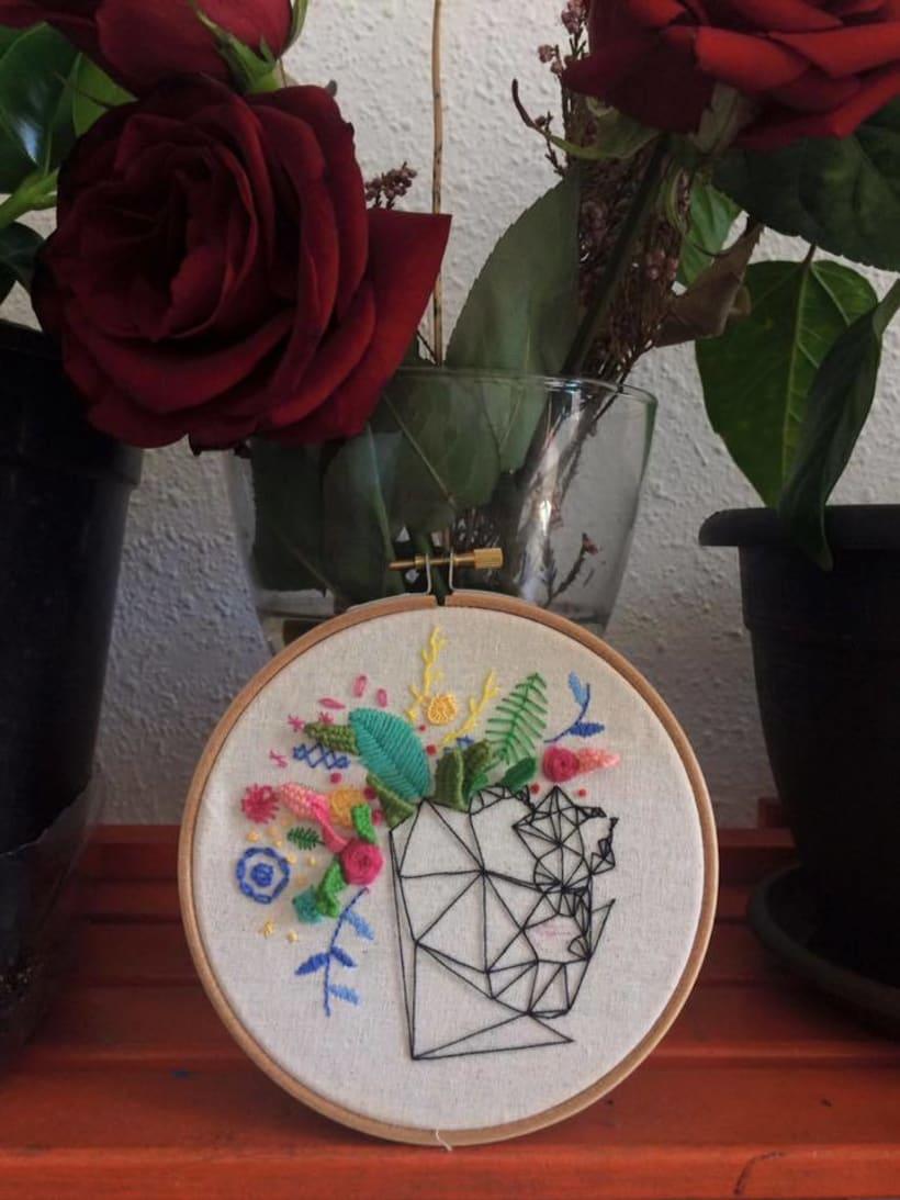 Primavera: Elementos geométricos y florales. -1