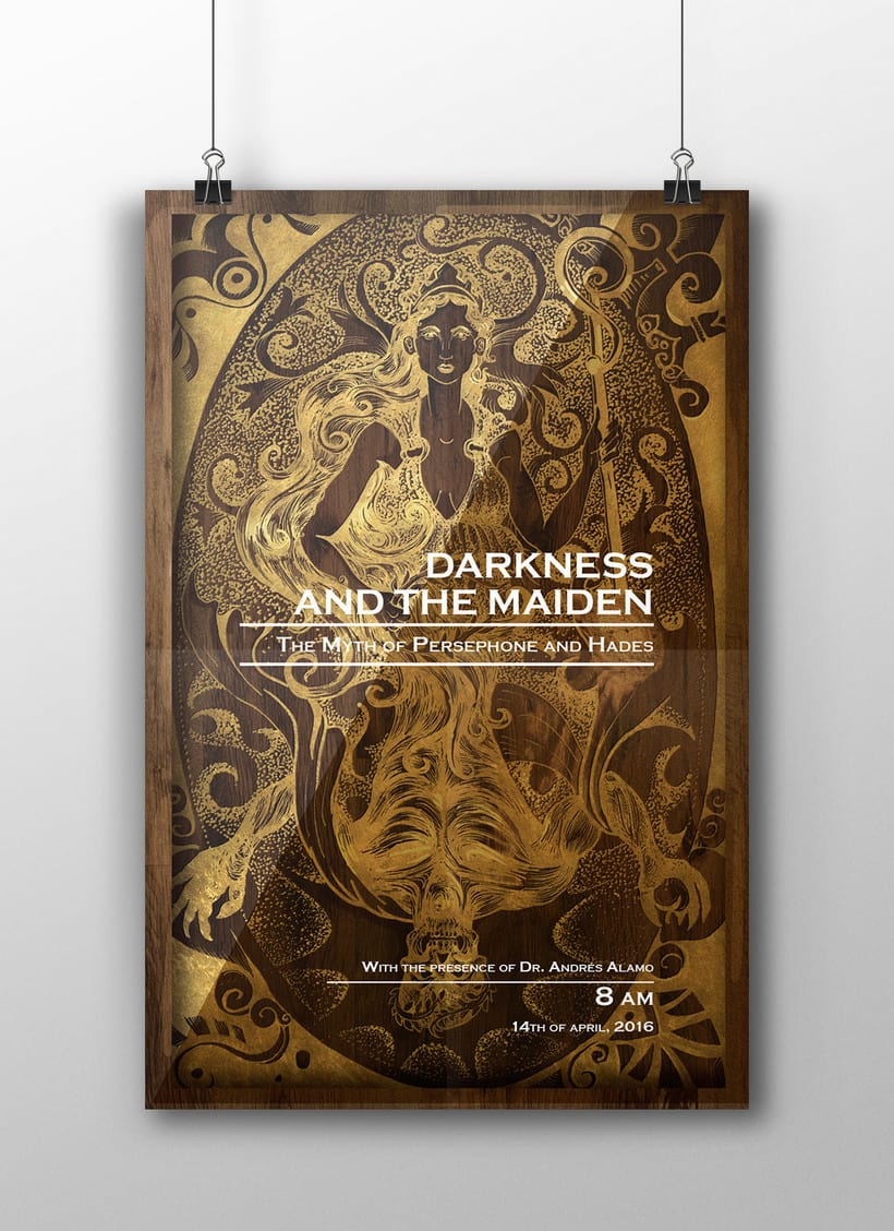 """Afiche promocional """"Darkness and the Maiden"""" -1"""