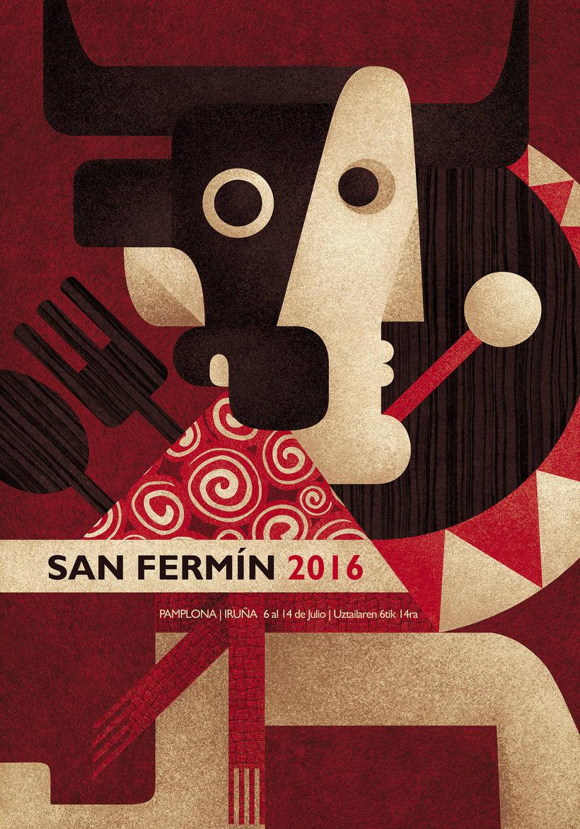 CARTEL FINALISTA - San Fermín 2016 2