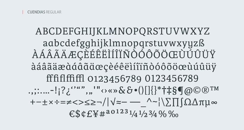 Cuendias. Tipografía institucional del ISDi 2