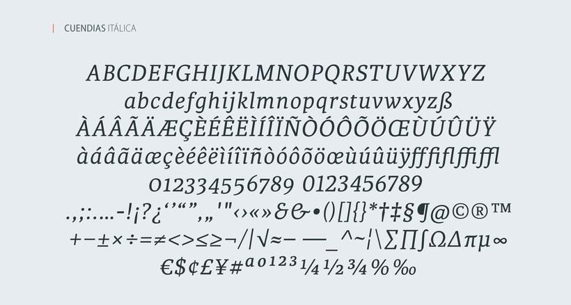 Cuendias. Tipografía institucional del ISDi 3