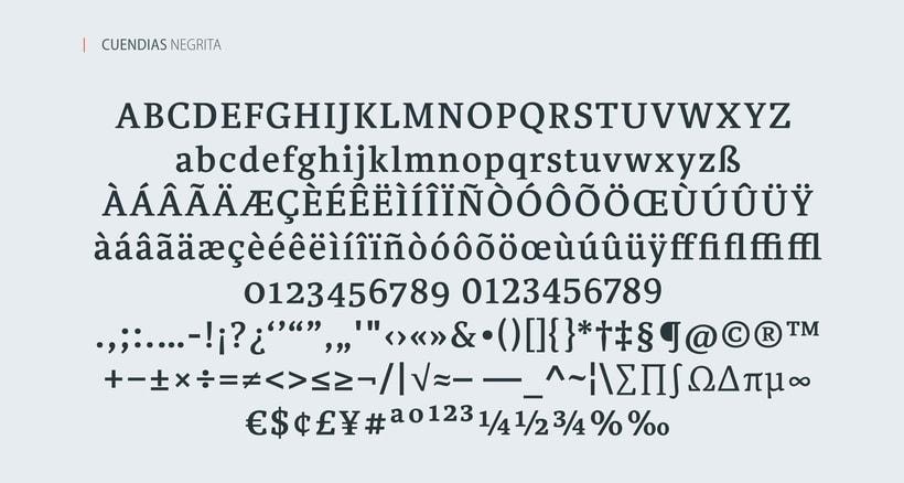 Cuendias. Tipografía institucional del ISDi 4