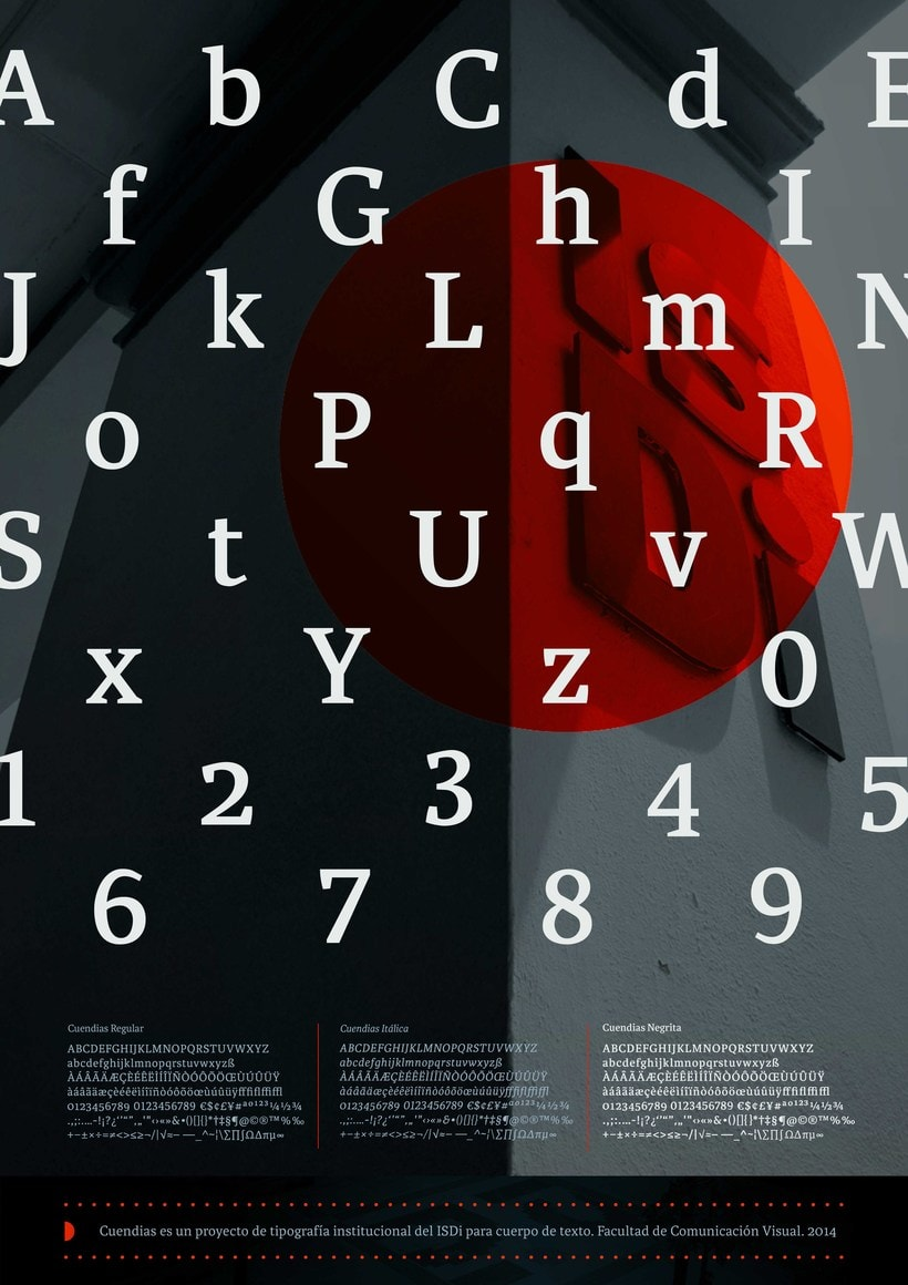 Cuendias. Tipografía institucional del ISDi 7
