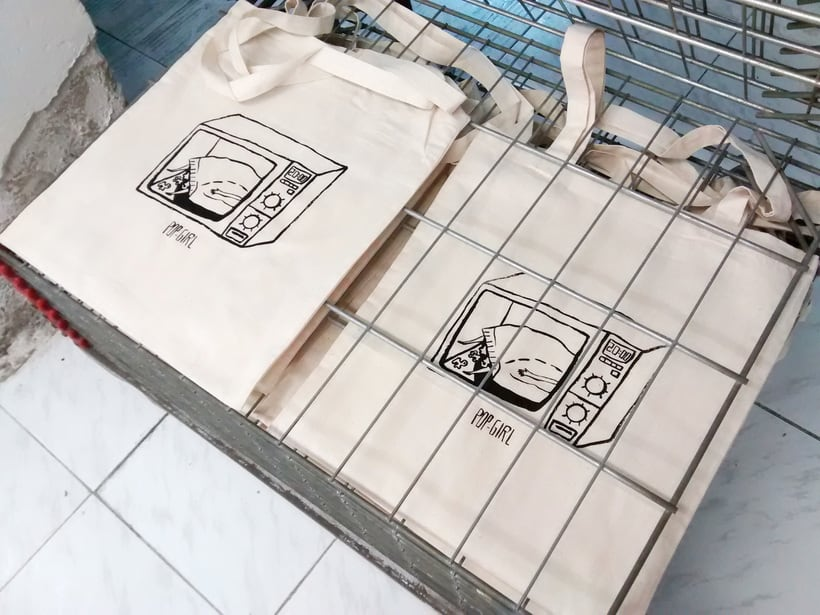 Pop-girl tote bag 2