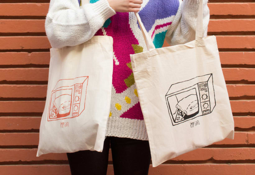 Pop-girl tote bag 3