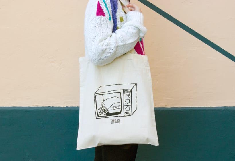 Pop-girl tote bag 5