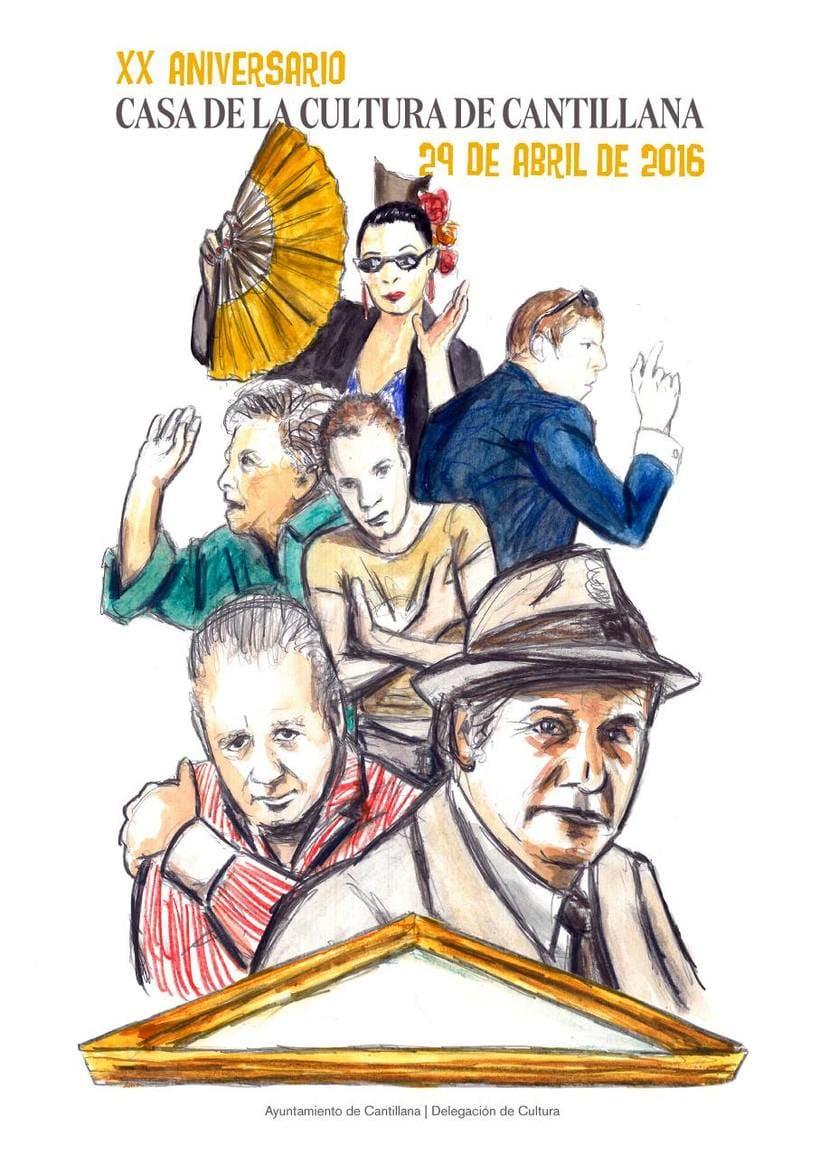Cartel para el XX aniversario de la Casa de la Cultura de Cantillana 0