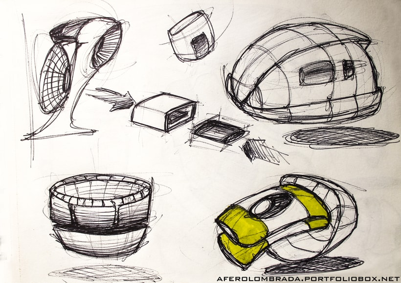Sketching dise o industrial domestika for Diseno industrial de muebles