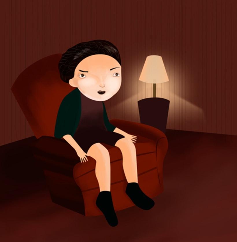 Niño en el sillón 0