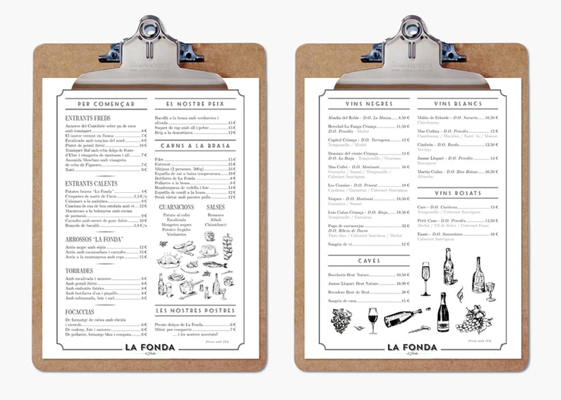 Branding restaurant La Fonda d'Horta 0