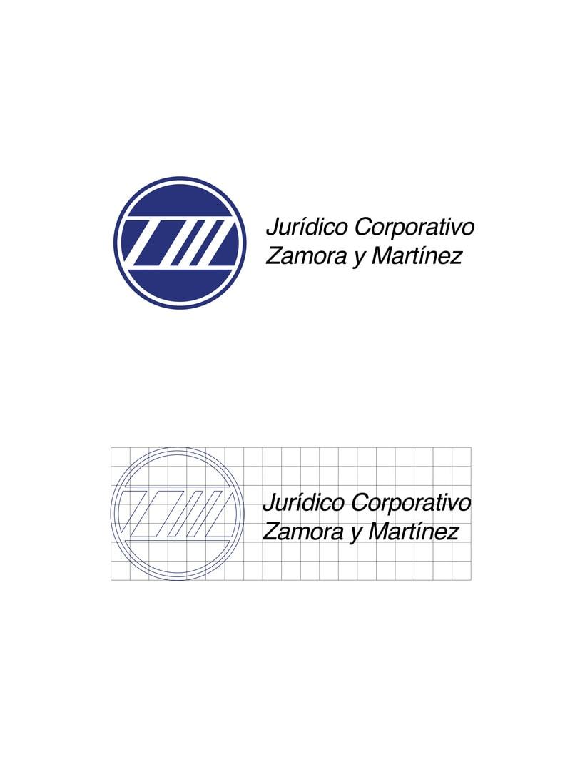 Mi Proyecto del curso: Identidad corporativa bi y tridimensional para JURÍDICO CORPORATIVO ZAMORA Y MARTÍNEZ.  3