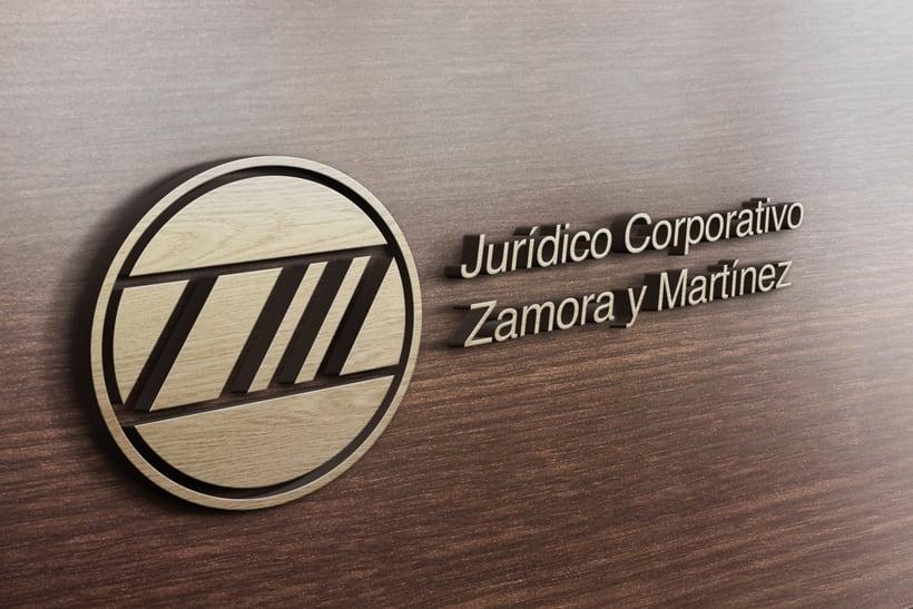 Mi Proyecto del curso: Identidad corporativa bi y tridimensional para JURÍDICO CORPORATIVO ZAMORA Y MARTÍNEZ.  5