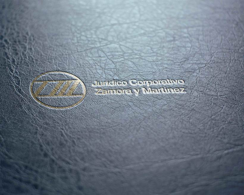 Mi Proyecto del curso: Identidad corporativa bi y tridimensional para JURÍDICO CORPORATIVO ZAMORA Y MARTÍNEZ.  7