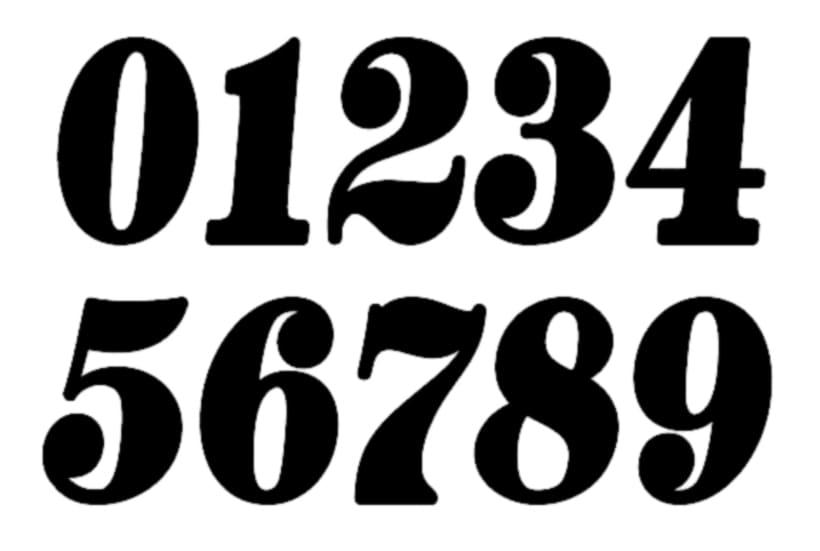 que tipografía utiliza estos números 1