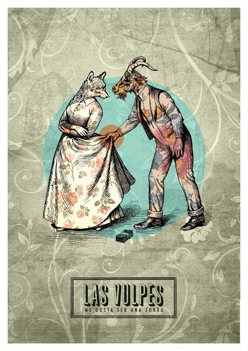 Cartelismo ilustrado. Cartel para el grupo de punk Las Vulpes. 0