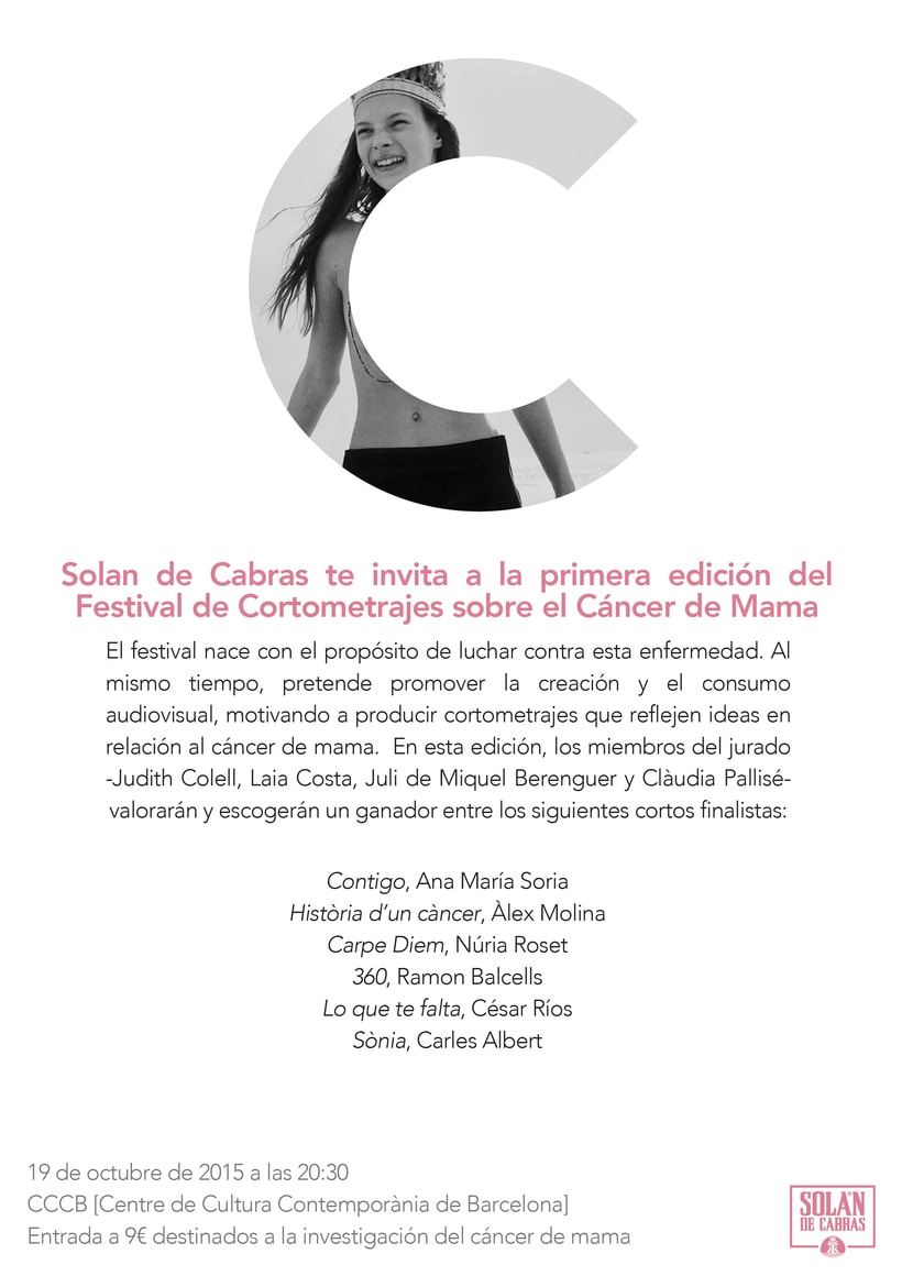Festival de Cortometrajes sobre el Cáncer de Mama 1
