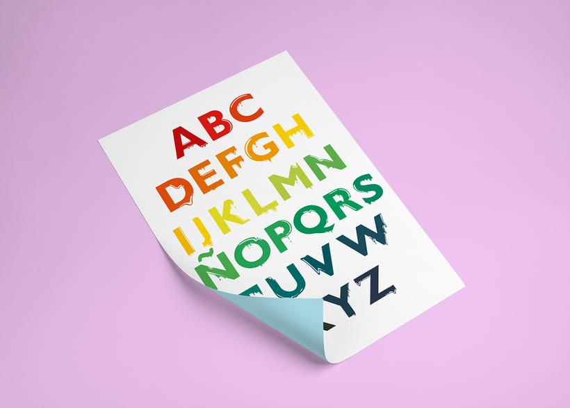 Tipografía: Tipografía re-diseñada. 13