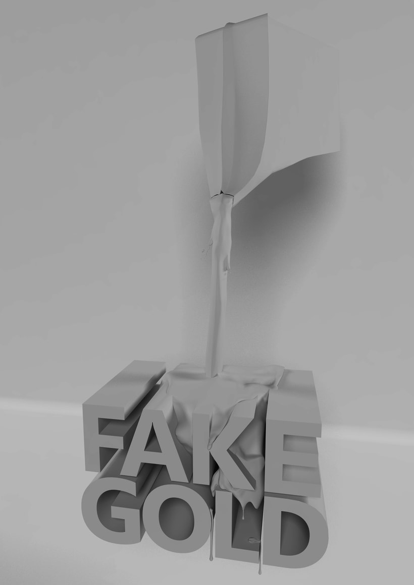 FAKE GOLD POSTER -1