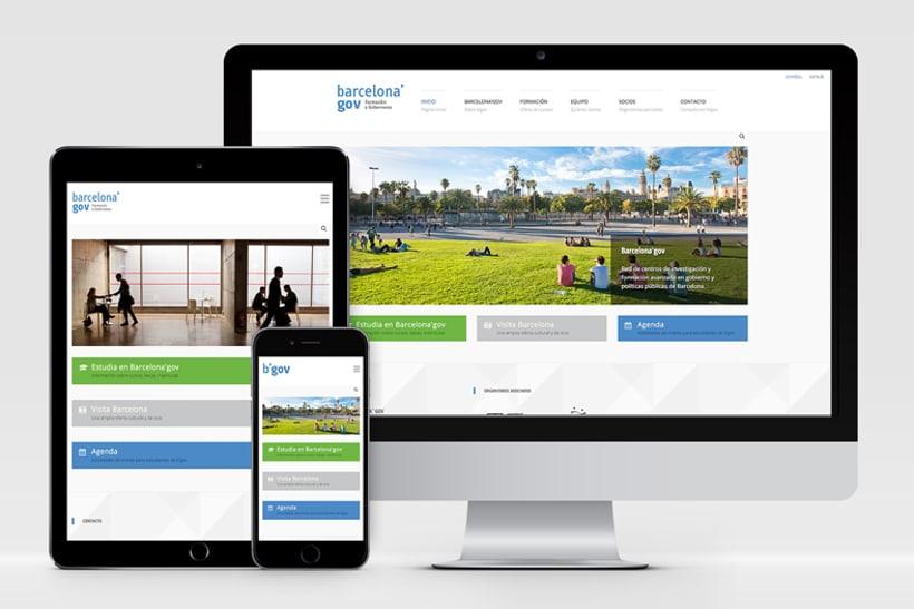 Identidad corporativa  y diseño web para Barcelona'gov 0
