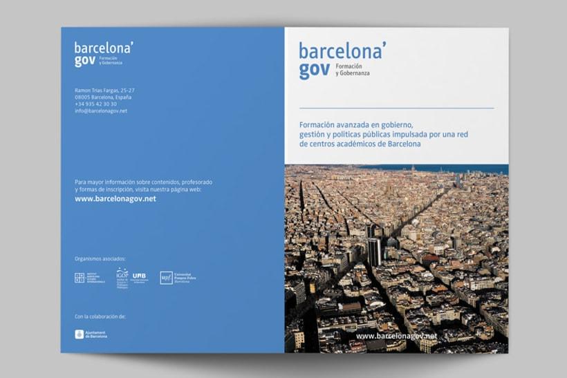 Identidad corporativa  y diseño web para Barcelona'gov 2
