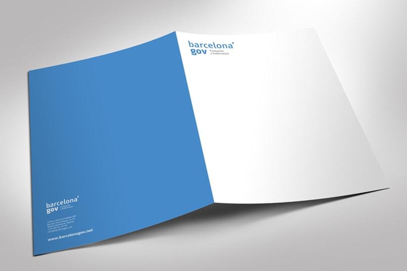 Identidad corporativa  y diseño web para Barcelona'gov 3