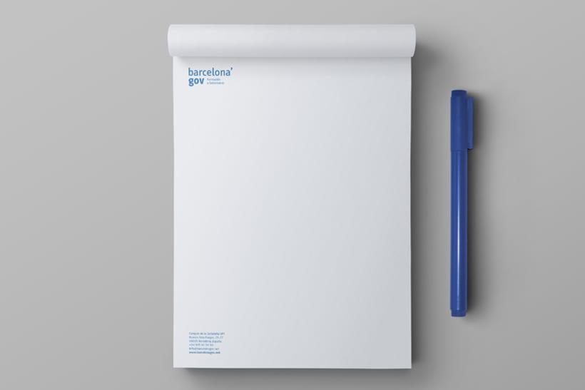 Identidad corporativa  y diseño web para Barcelona'gov 4