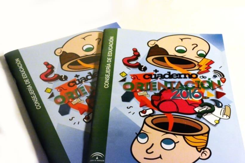 Diseño de portada para cuaderno de orientación de la Junta de Andalucía -1