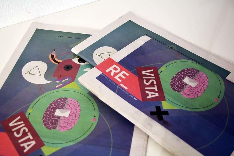 Diseño de portada para el nº1 de la revista de la escuela de arte de Cadiz 0
