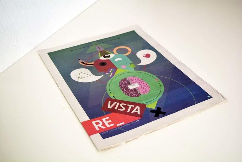 Diseño de portada para el nº1 de la revista de la escuela de arte de Cadiz 2