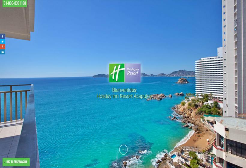 Sitio Web Holiday Inn Resort Acapulco 1