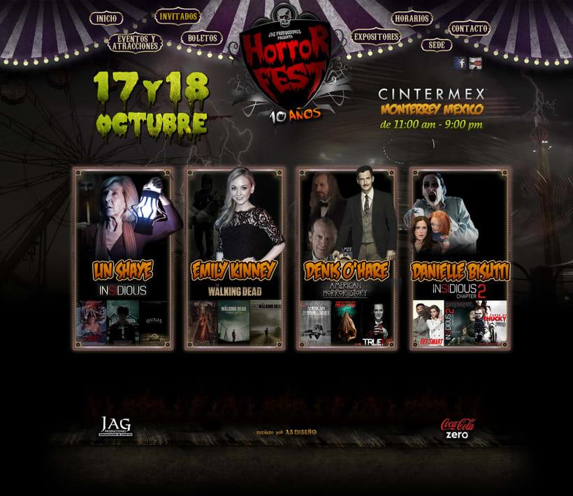 Sitio Web Horror Fest 2015 1