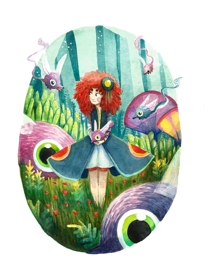 Mix de Ilustraciones en Acuarela 3