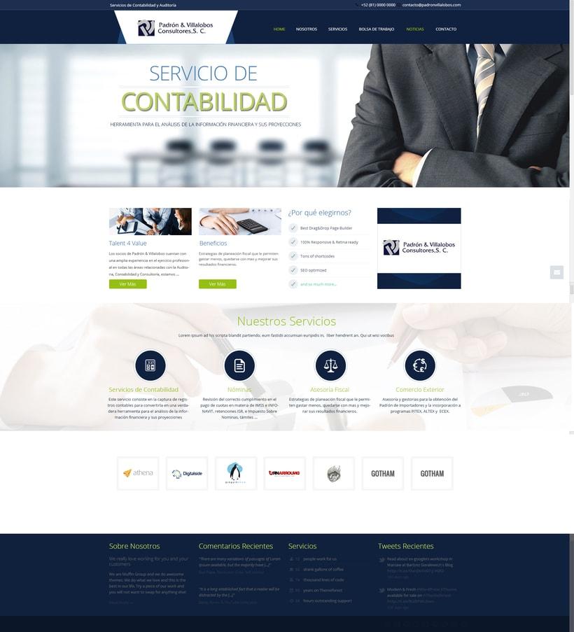 Sitio Web Padron y Villalobos Consultores 1