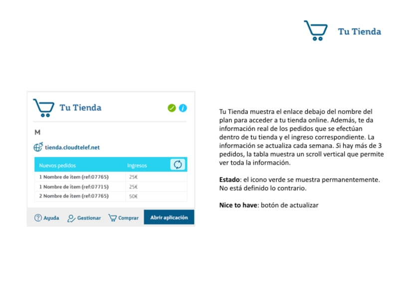 Definición comportamiento de widgets para el Control Panel de un admin user 22