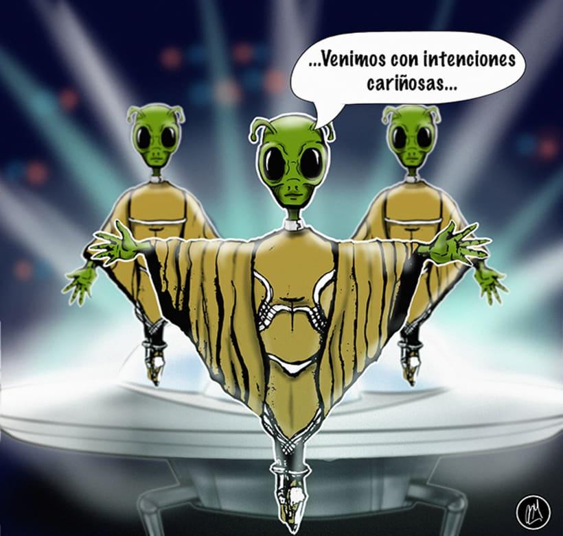 Vienen los aliens. 1