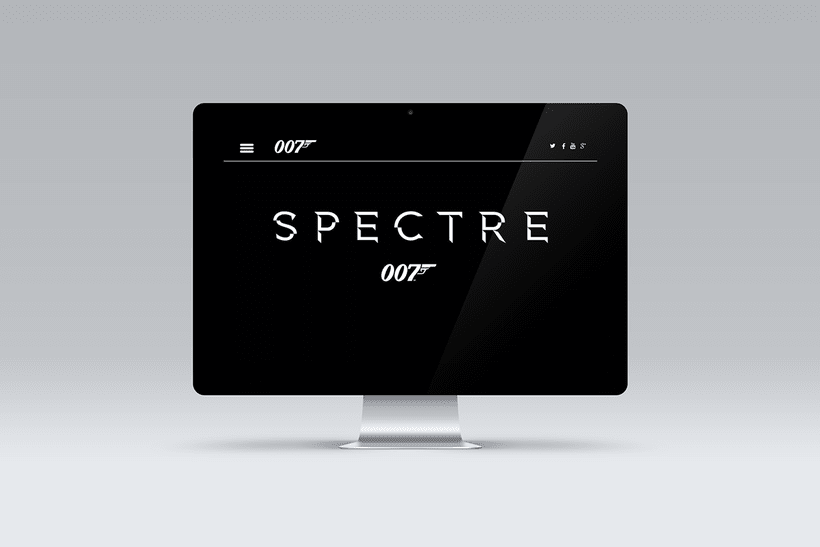 Proyecto diseño web película SPECTRE 007 1