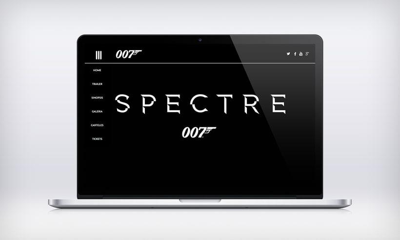 Proyecto diseño web película SPECTRE 007 3