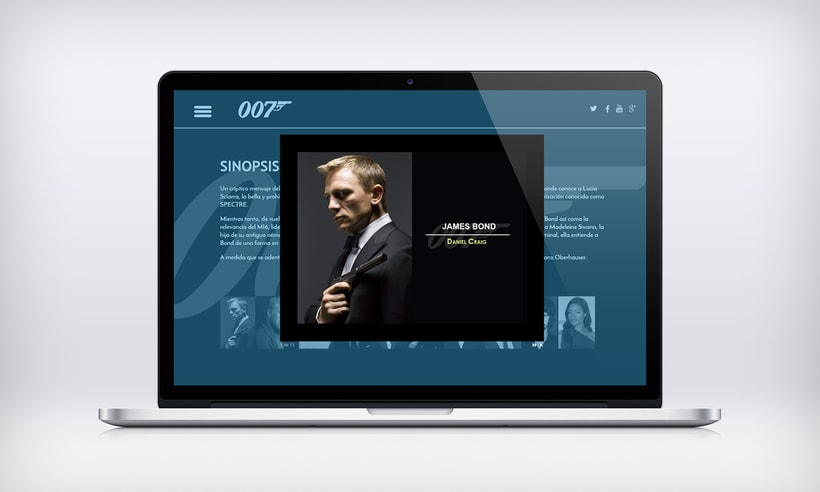Proyecto diseño web película SPECTRE 007 7