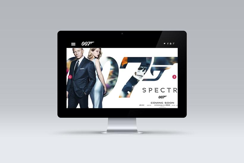 Proyecto diseño web película SPECTRE 007 8