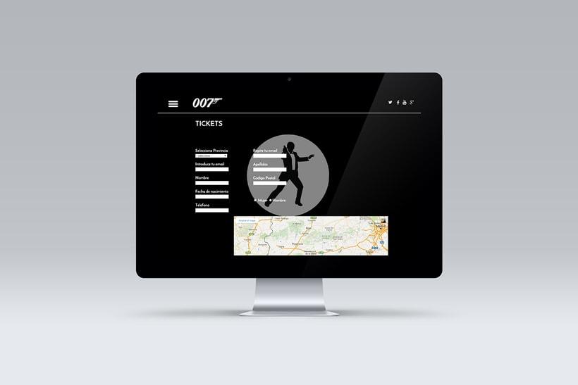 Proyecto diseño web película SPECTRE 007 10