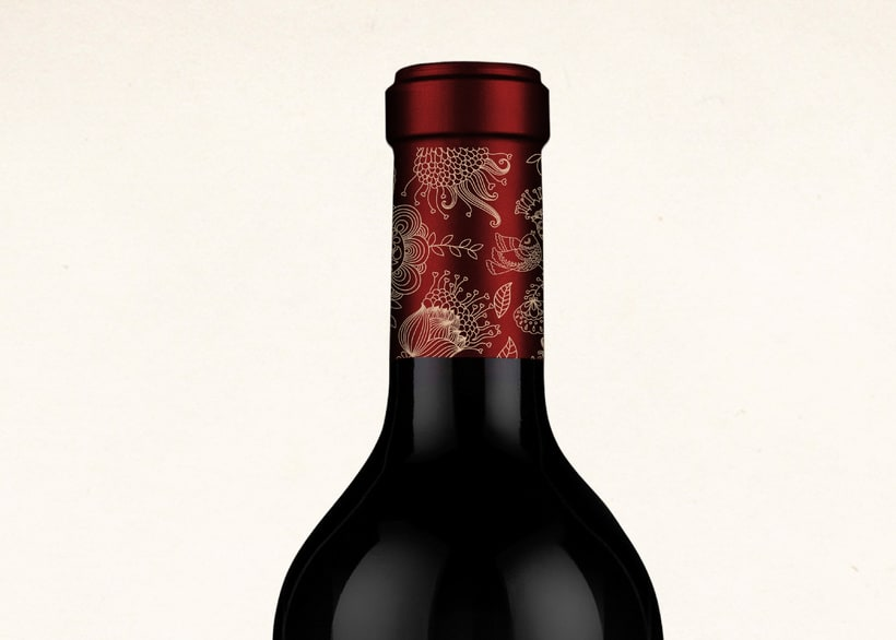 Wine Label Design: Viña Turquesa Crianza (Bodegas Pedro Moreno 1940) 6