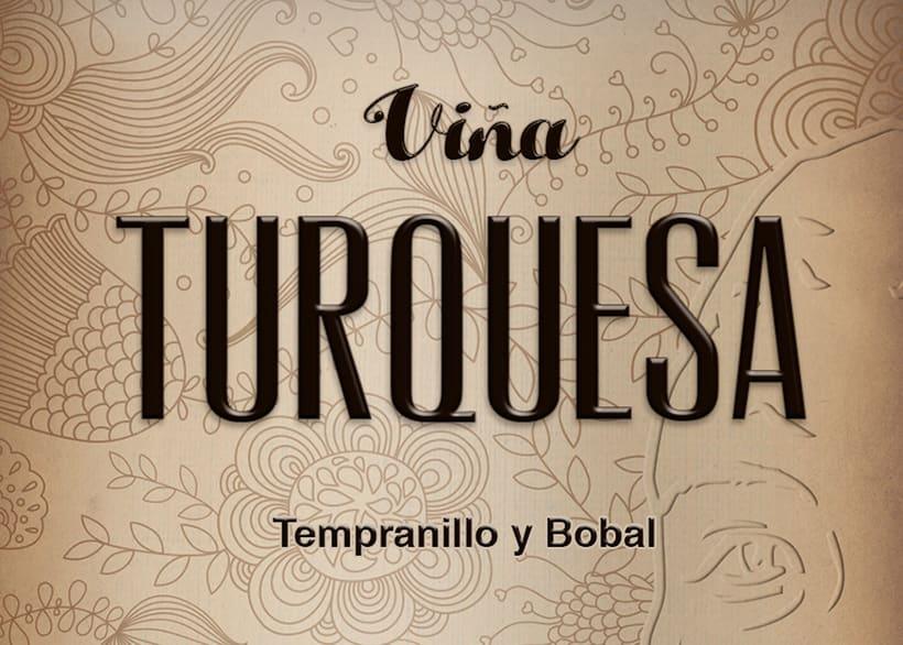 Wine Label Design: Viña Turquesa Crianza (Bodegas Pedro Moreno 1940) 8