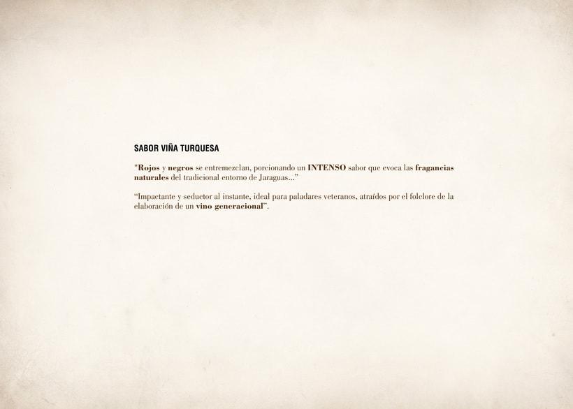 Wine Label Design: Viña Turquesa Crianza (Bodegas Pedro Moreno 1940) 9