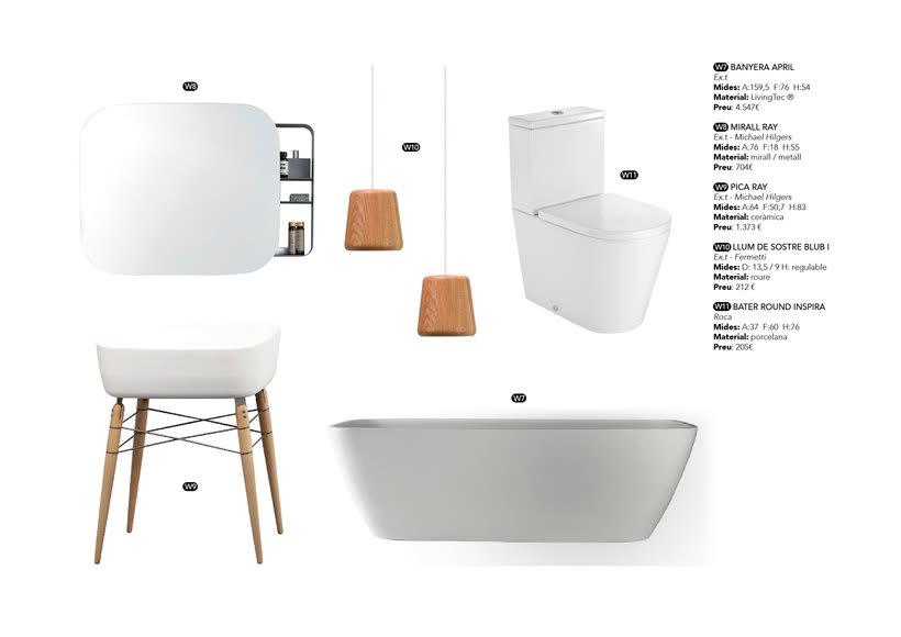 Distribución y elección de mobiliario para un piso en La Pedrera de Barcelona  3
