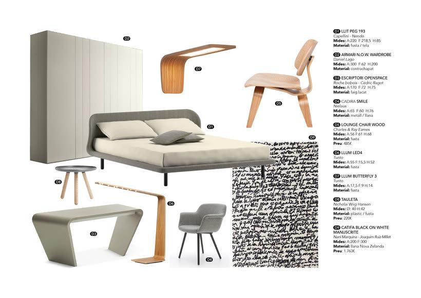 Distribución y elección de mobiliario para un piso en La Pedrera de Barcelona  5