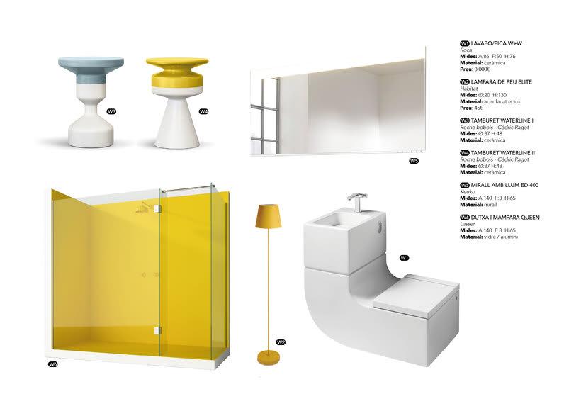 Distribución y elección de mobiliario para un piso en La Pedrera de Barcelona  2