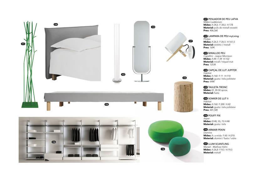 Distribución y elección de mobiliario para un piso en La Pedrera de Barcelona  4