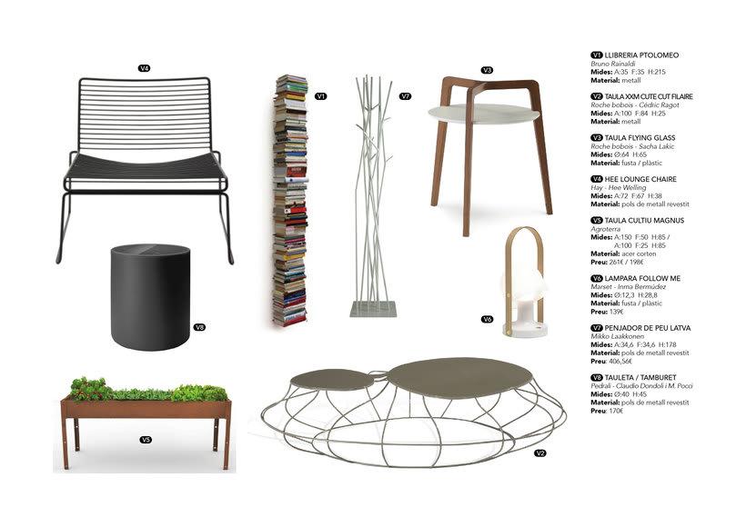 Distribución y elección de mobiliario para un piso en La Pedrera de Barcelona  7